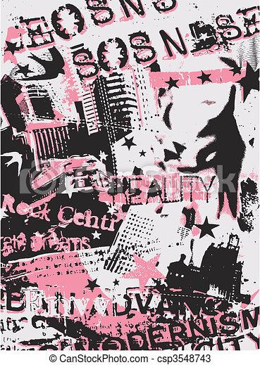 woman fashion poster - csp3548743
