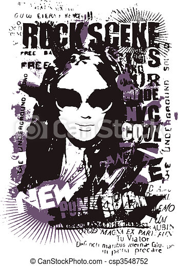 fashion woman poster design - csp3548752