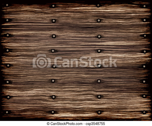 grunge old wood planks - csp3548755