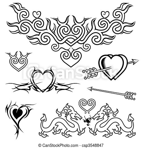 Love Tattoo - csp3548847
