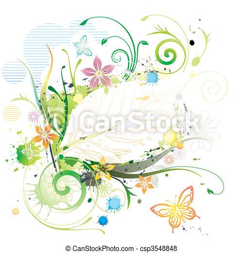 Water Color Floral - csp3548848