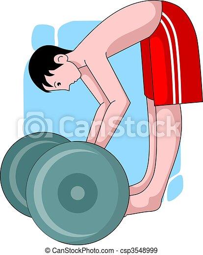 boy exercise to health - csp3548999
