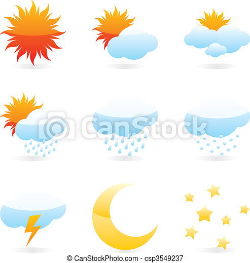 isolated weather icons  - csp3549237