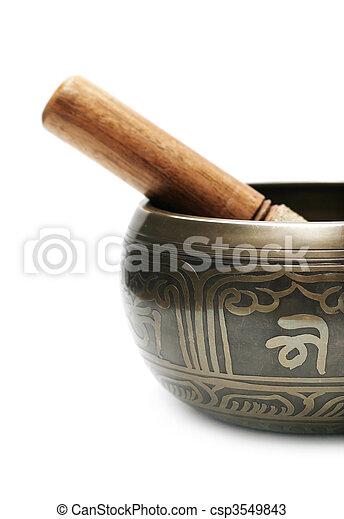 Tibetan singing bowl - csp3549843