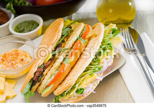 assorted panini sandwich - csp3549975