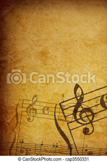 Abstract grunge melody textures and backgrounds - perfect background with space for text or image - csp3550331