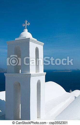 希腊的教堂 - csp3552301