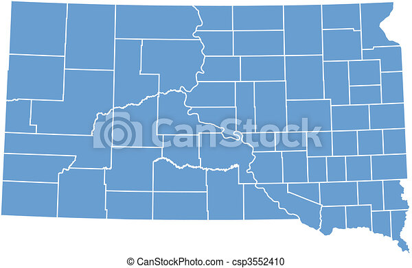 Vector map South Dakota - csp3552410