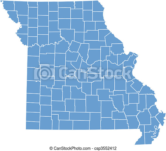 Vector map Missouri - csp3552412