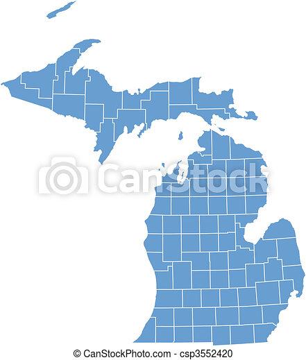 Vector map Michigan - csp3552420