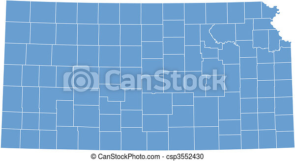 Vector map Kansas - csp3552430
