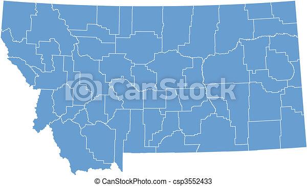 Vector map Montana - csp3552433