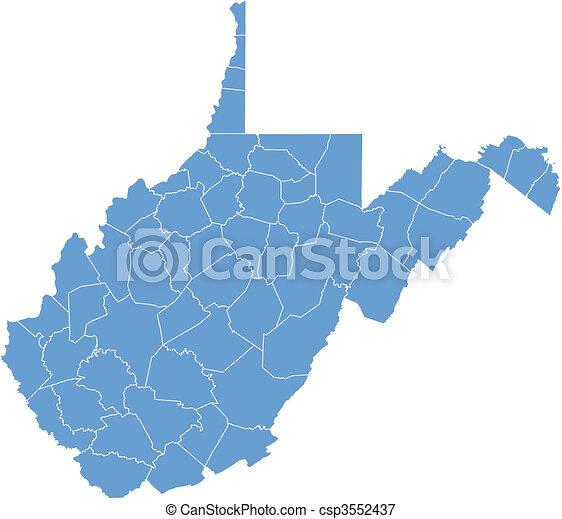 Vector map West Virginia - csp3552437