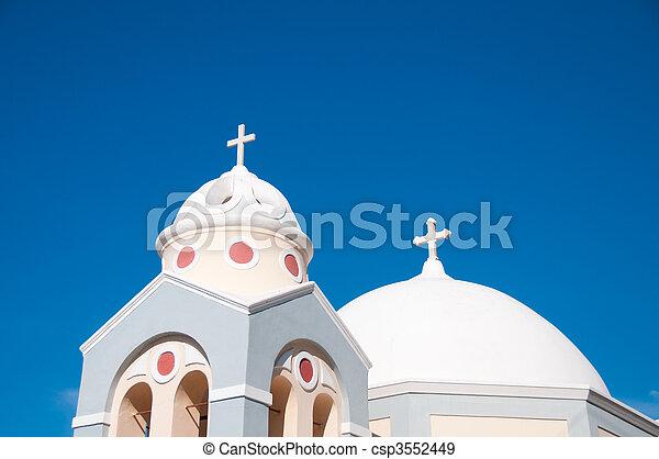 希腊的教堂 - csp3552449