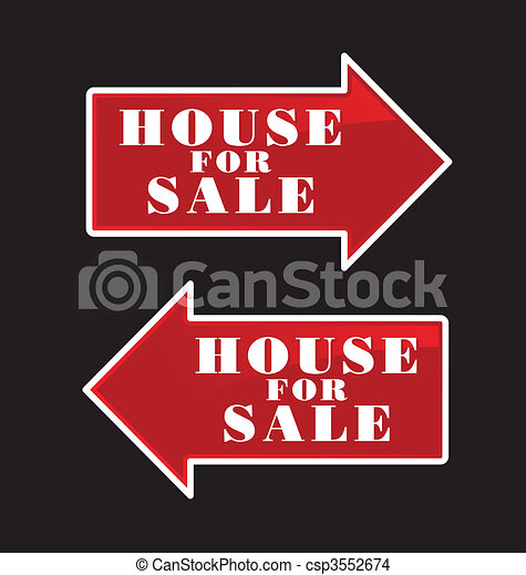 House For Sale Arrows - csp3552674