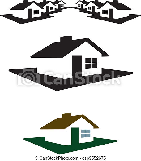 House Logo and Header - csp3552675