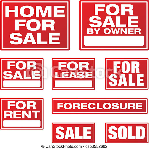 Real Estate and Business Signs - csp3552682