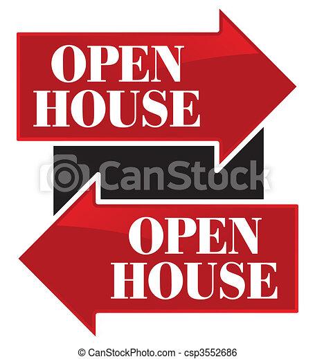 Open House Arrows - csp3552686
