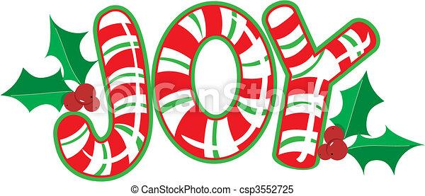 Joy Candy Cane - csp3552725