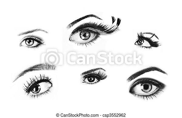 Isolated eyes. - csp3552962