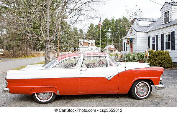 antique automobile, New Hampshire, USA - csp3553012