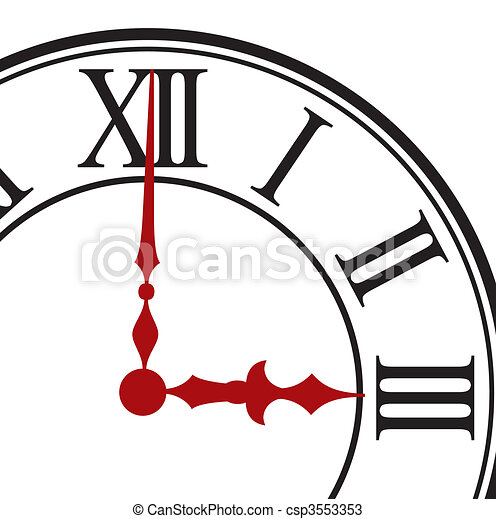 Dial of hours. Vector illustration - csp3553353