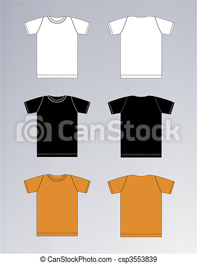 White, Black, Orange T-shirt design - csp3553839