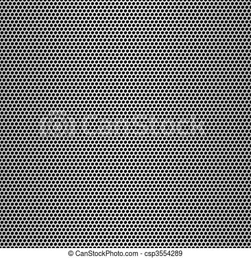 Perforated metal seamless background. - csp3554289