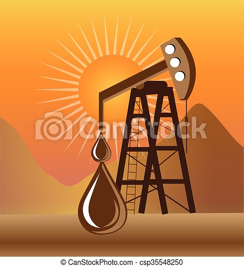 Clipart Vector of Oil pump symbol web graphic logo illustration ...
