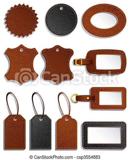 leather labels - csp3554883