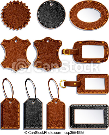 leather labels - csp3554885