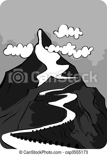 dessins de montagne illustration de a falaise de lev csp3555173 recherchez des. Black Bedroom Furniture Sets. Home Design Ideas