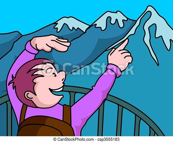 dessins de montagne illustration falaise montagne enfants csp3555183 recherchez des. Black Bedroom Furniture Sets. Home Design Ideas