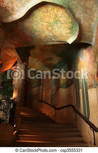 Casa Mila or La Pedrera. Interior - csp3555331