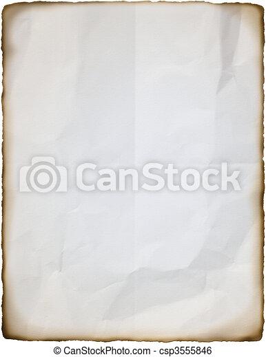 Burnt paper - csp3555846