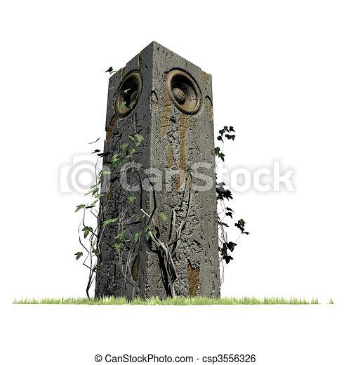 old speaker sound system deejay  - csp3556326