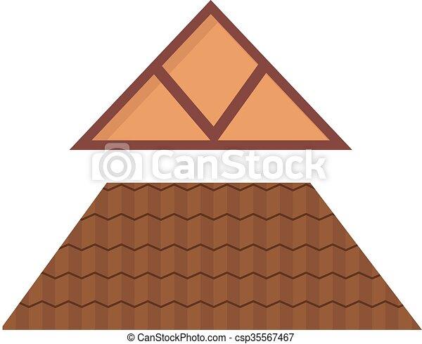 Clip art vecteur de maison m tal triangulaire toit for Toit de maison dessin