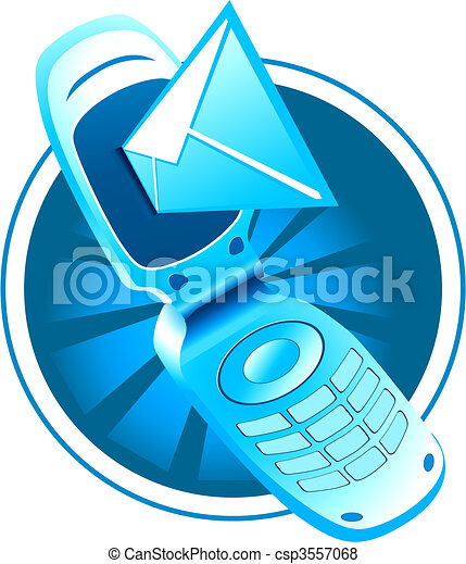 vector mobile phone with sms - csp3557068
