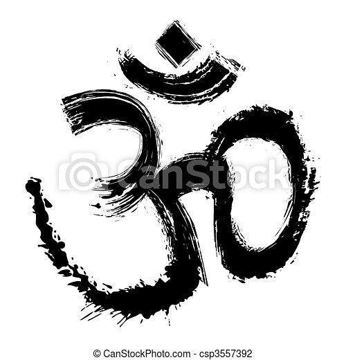 Artistic om symbol - csp3557392