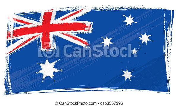 Grunge Australia flag - csp3557396