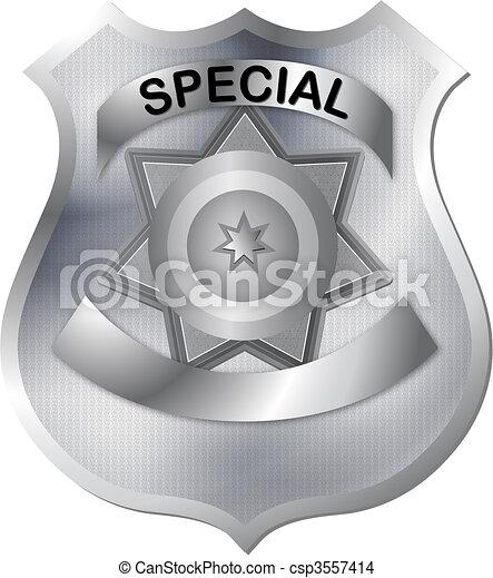 badge in gray silver color tones wi - csp3557414