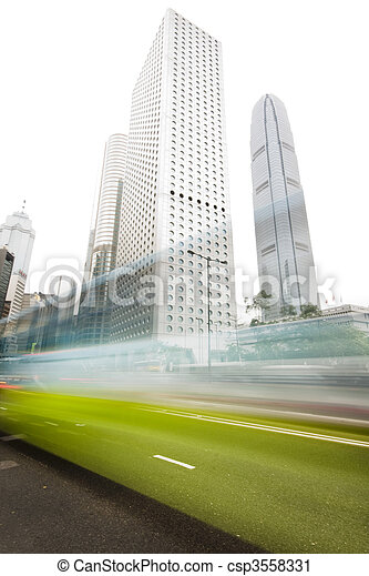 it is traffic through downtown in HongKong