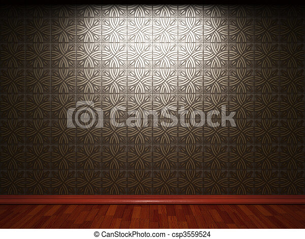 illuminated tile wall  - csp3559524