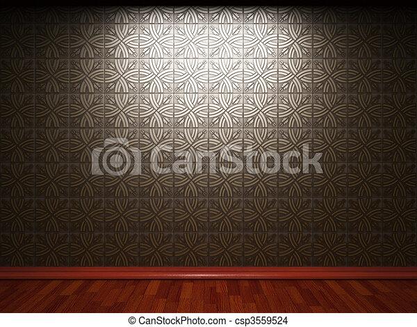 illuminated tile wall - csp3559524