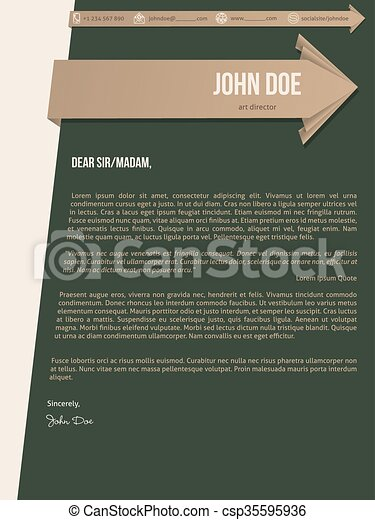 of modern cover letter resume with brown ribbons modern cover