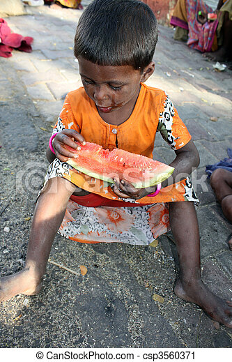 Hungry Poor Girl - csp3560371