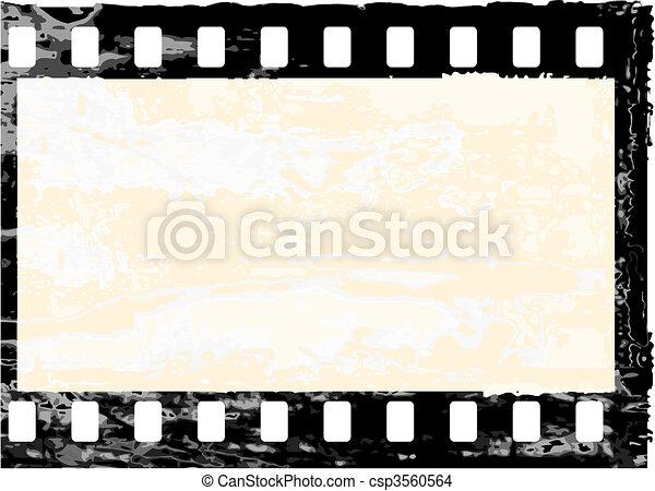 Grunge filmstrip frame - csp3560564