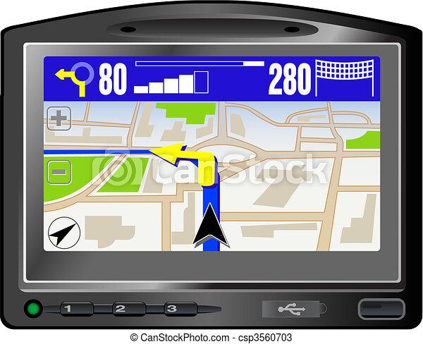 Modern GPS - csp3560703