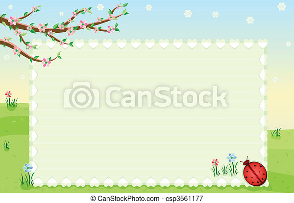 Spring greeting card - csp3561177