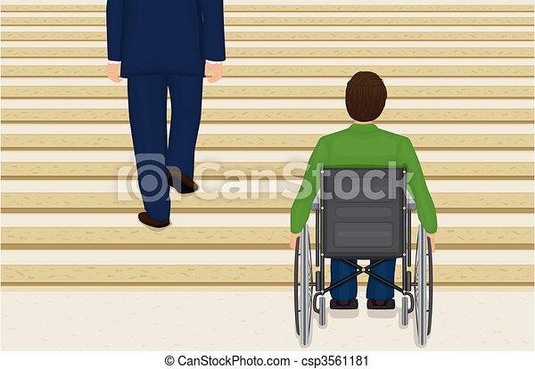 Helpless in a wheelchair - csp3561181